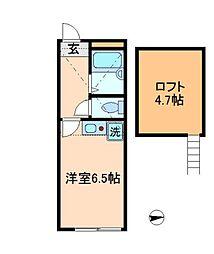 東京都練馬区桜台3丁目の賃貸アパートの間取り