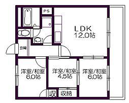 アパートメント178[402号室]の間取り