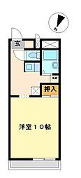 兵庫県加古川市加古川町美乃利の賃貸アパートの間取り