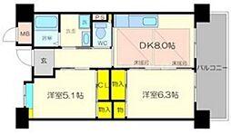 OPH新千里南町(2棟) 1階2DKの間取り