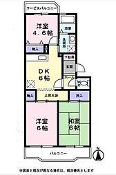 パピヨングレース[3階]の間取り