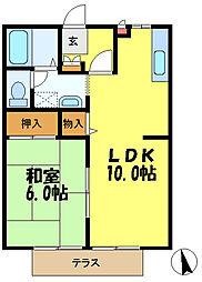 ベルシェ31[1階]の間取り