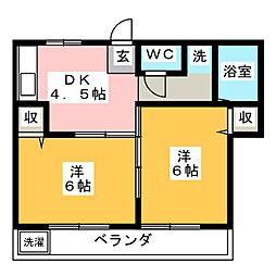 メゾンK三勝[1階]の間取り