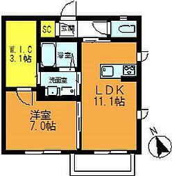 仮)朝霞市三原2丁目シャーメゾン[2階]の間取り