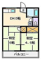第2タウンコーポ浅田[2階]の間取り