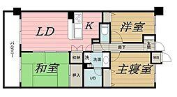 千葉県千葉市中央区問屋町の賃貸マンションの間取り