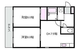 東京都武蔵野市吉祥寺本町2丁目の賃貸アパートの間取り