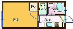 田野コーポ[101号室]の間取り