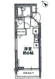 東京都品川区大崎3丁目の賃貸マンションの間取り