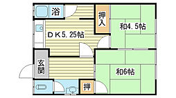 [一戸建] 兵庫県姫路市飾磨区下野田1丁目 の賃貸【/】の間取り