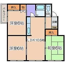 昭和ハイツ[2F7号室]の間取り