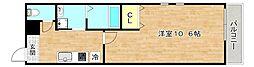 Osaka Metro谷町線 太子橋今市駅 徒歩7分の賃貸マンション 3階1Kの間取り