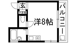 兵庫県西宮市段上町8丁目の賃貸マンションの間取り