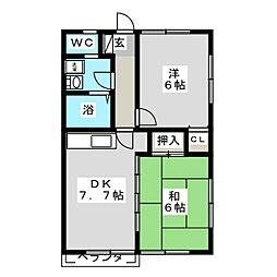 カーサ・クリスタル21[1階]の間取り