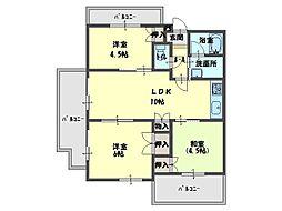ウィステリア弐番館[3階]の間取り