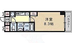 JT大阪West 4階1Kの間取り