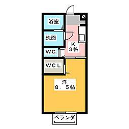 メゾン富貴[2階]の間取り