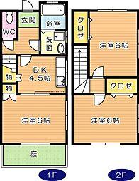 [テラスハウス] 福岡県北九州市八幡西区陣原3丁目 の賃貸【/】の間取り