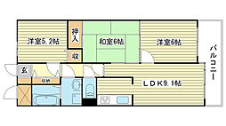 兵庫県姫路市御立西5丁目の賃貸マンションの間取り