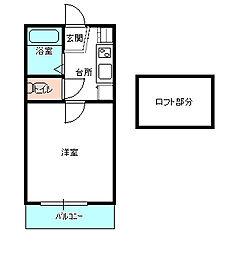茨城県水戸市小吹町の賃貸アパートの間取り