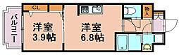 ソーレコモンド[4階]の間取り