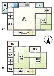 [一戸建] 東京都渋谷区笹塚2丁目 の賃貸【東京都 / 渋谷区】の間取り