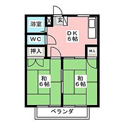 サンビレッジA[2階]の間取り