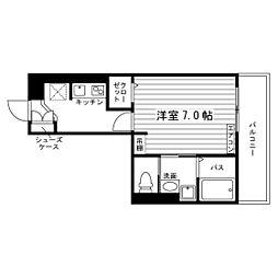 名古屋市営鶴舞線 塩釜口駅 徒歩8分の賃貸アパート 1階1Kの間取り
