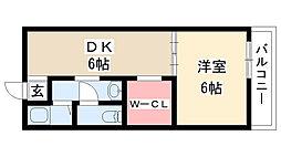 愛知県名古屋市南区汐田町の賃貸アパートの間取り