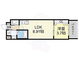 おおさか東線 南吹田駅 徒歩7分の賃貸マンション 5階1LDKの間取り