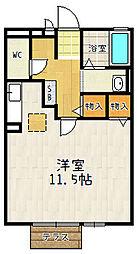 京都府京都市山科区竹鼻木ノ本町の賃貸アパートの間取り