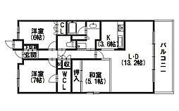 ジオ阪急洛西口サウスレジデンス[10階]の間取り