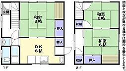 [一戸建] 滋賀県彦根市栄町2丁目 の賃貸【/】の間取り