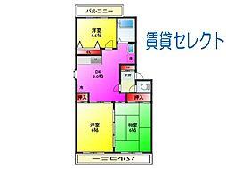 松戸ハイツ[3階]の間取り