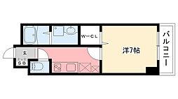 兵庫県西宮市南昭和町の賃貸マンションの間取り