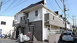 埼玉県草加市北谷の賃貸アパートの外観