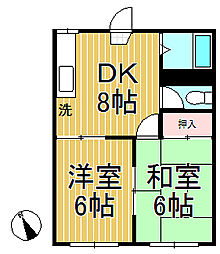 メゾングレージュ[1階]の間取り