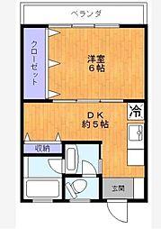 小池マンション[4階]の間取り