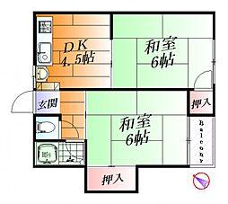 喜多コーポ A棟[2階]の間取り