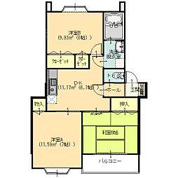 アネックス21太田西 A棟[102号室]の間取り