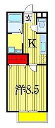 千葉県船橋市西船3丁目の賃貸アパートの間取り