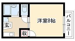愛知県名古屋市南区鳥栖1丁目の賃貸アパートの間取り