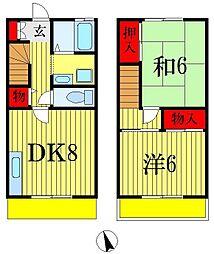 [テラスハウス] 千葉県船橋市駿河台2丁目 の賃貸【/】の間取り
