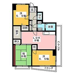 レジデンス輝樹II[3階]の間取り