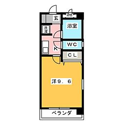 ROBIN Ⅱ[3階]の間取り