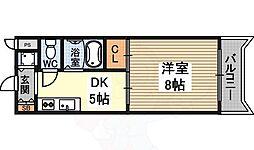 FIVE TWO 4階1Kの間取り