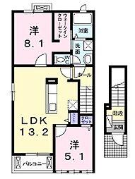 大庭アパート[2階]の間取り