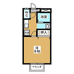 窪田コーポ A[1階]の間取り