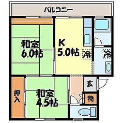 ビレッジハウス福田本町 2棟[505号室]の間取り