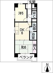 松原名藤マンション[3階]の間取り